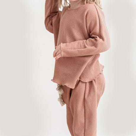 Tilda Blush top and Rope Trousers Set