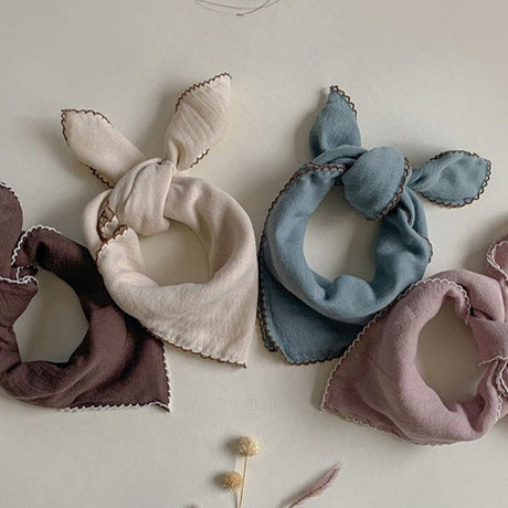 Tiamo Square Cotton Neck Scarf & Muslin Bib