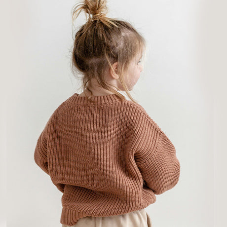 Lois Unisex Oversize Knit (Clay pot)
