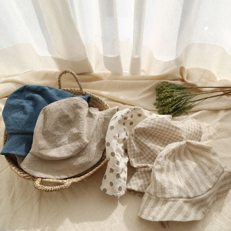 Beige Bora Linen Cotton Bucket Hat