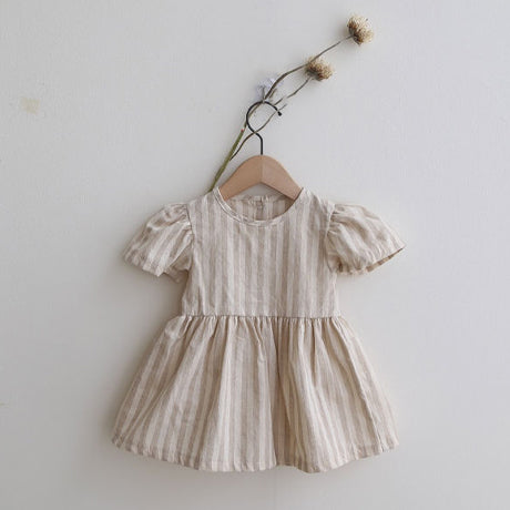 Bora Cotton Linen Stripe Dress