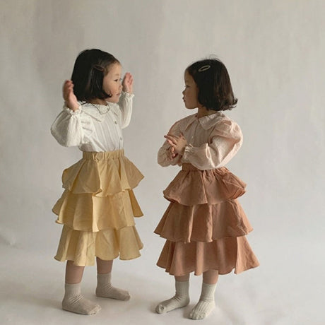 Evita Tiered Skirt (Rust Pink)