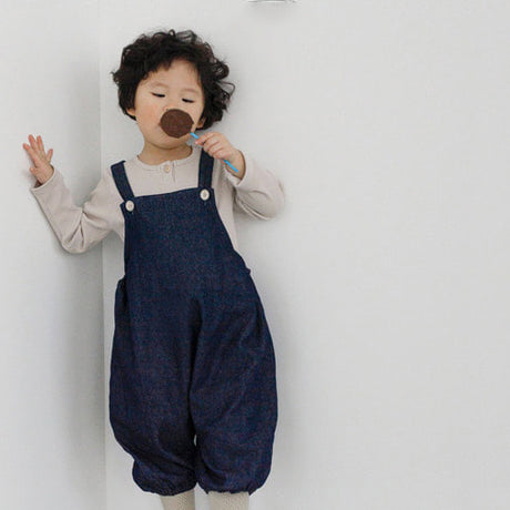 Noah Crop Dungaree Overalls (Denim)