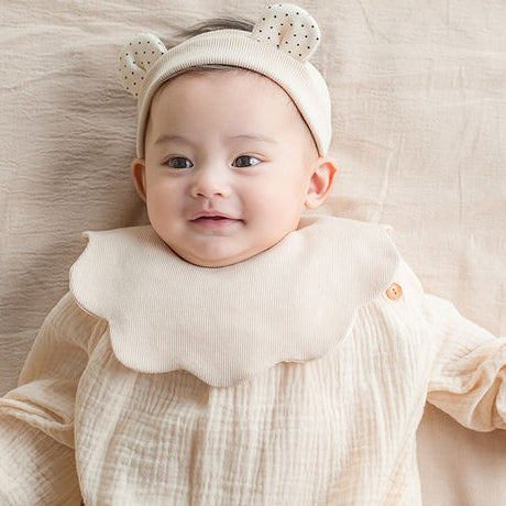 Bear Ears Headband and Bib Set