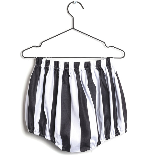 Wolf & Rita Black and White Stripes Francisca Bloomer Shorts
