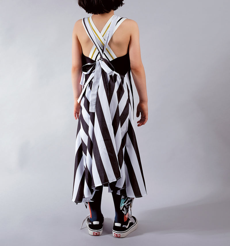 Wolf & Rita Black and White Stripes Mafalda Dress