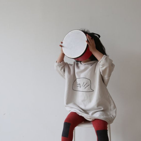 Strong Hooded Long Line Sweatshirt (Off White)