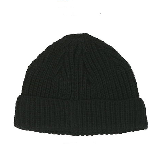 Hazzi Short Fisherman Beanie (Black)