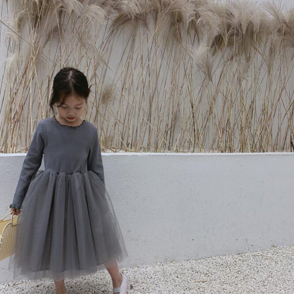 Suki Minimalist Tutu Dress (Charcoal Grey)