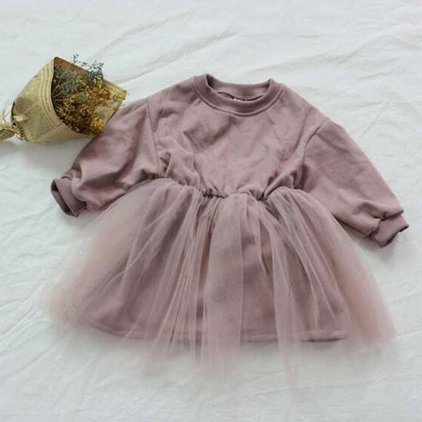 Matilda Sweatshirt Tutu Dress (Pink)