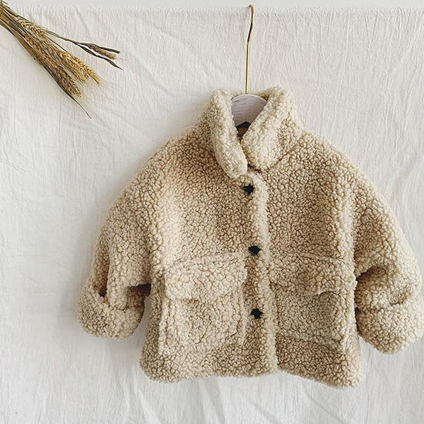 Izu Teddy Collar Warm Coat (Cream)