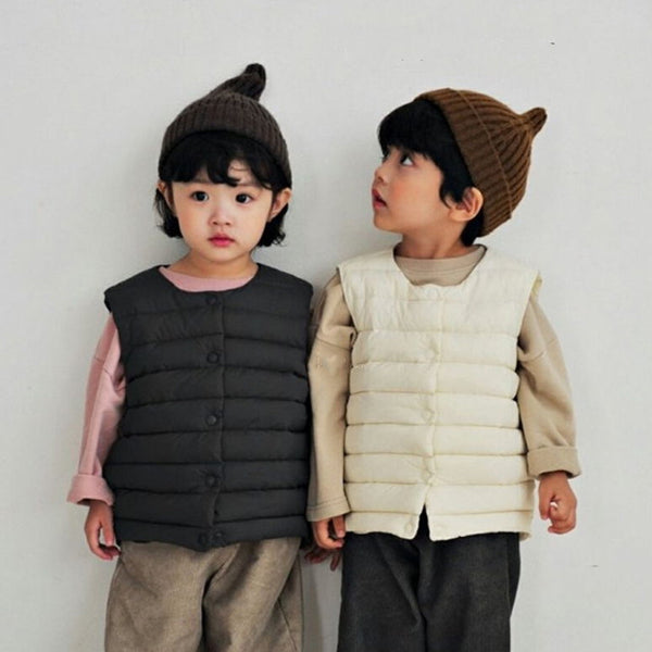 Atticus Down Vest Gilet Jacket (Charcoal)