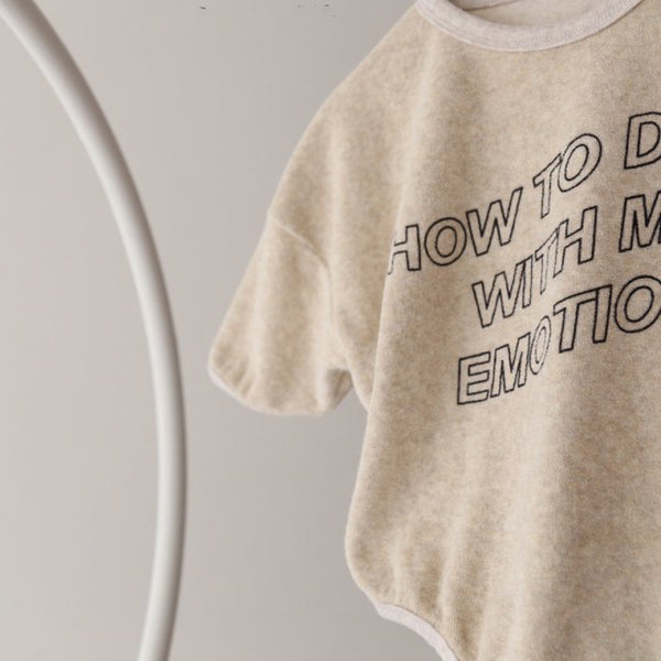 How To Deal With My Emotions Romper (Ivory)