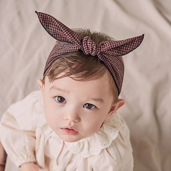 Kinder Wire Baby Knot Headband (Check)