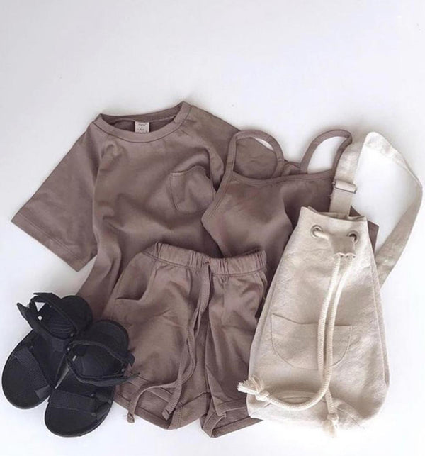 Chocolate Simple Summer 3 Piece Set (Mocha)