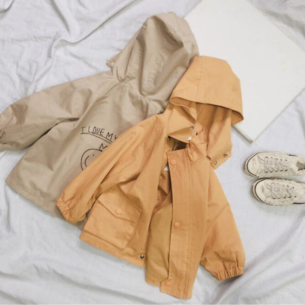 I Love My Mummy Hooded Jacket (Beige)