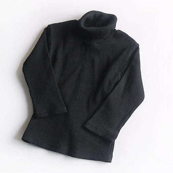 Roma Ribbed Turtleneck Basics (Black)