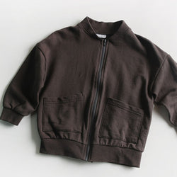 Noah Daily Cardigan Bomber (Dark Grey)