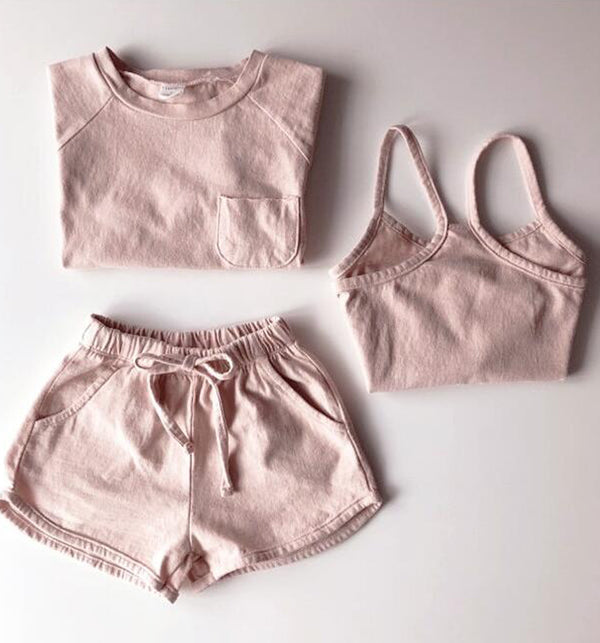 Strawberry Simple Summer 3 Piece Set (Pink)