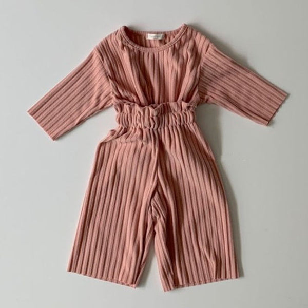 Warm Brushed Rib Top & Bottom Set (Pink)