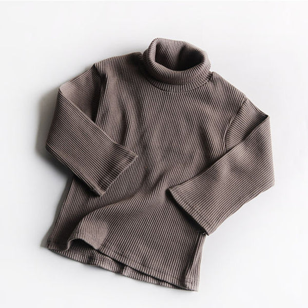 Roma Ribbed Turtleneck Basics (Mocha)
