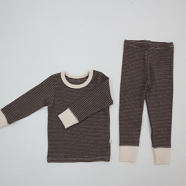 Warm Stripe Easywear Set (Cocoa)