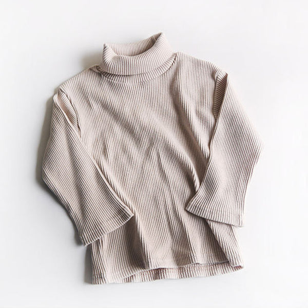 Roma Ribbed Turtleneck Basics (Beige)