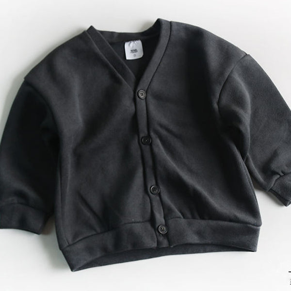Cali Button Cardigan Jacket (Dark Grey)