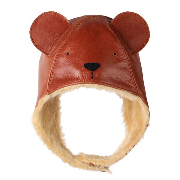 Kapi Leather Bear Hat