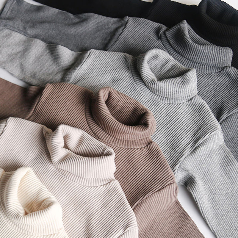 Roma Ribbed Turtleneck Basics (Dark Grey)