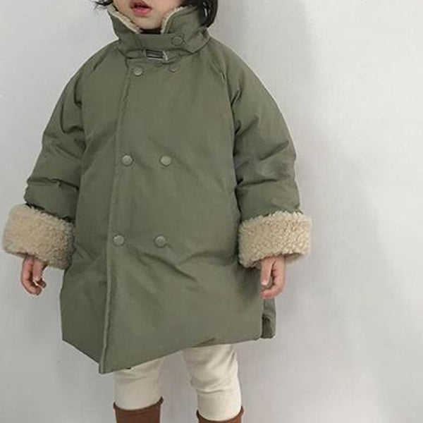 Silva Long Line Teddy Collar Warm Coat (Sage)