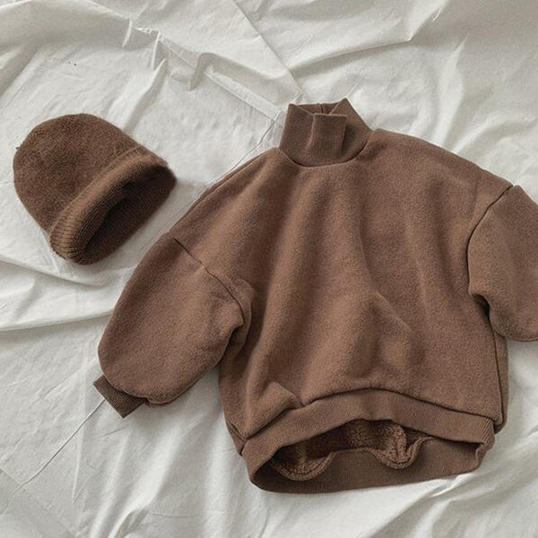Cici Funnel Neck Sweatshirt (Chocolate)
