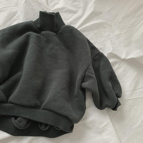 Cici Funnel Neck Sweatshirt (Charcoal)