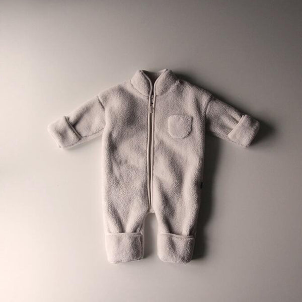 Flori Fleece Zip up Outer Suit (Cream)
