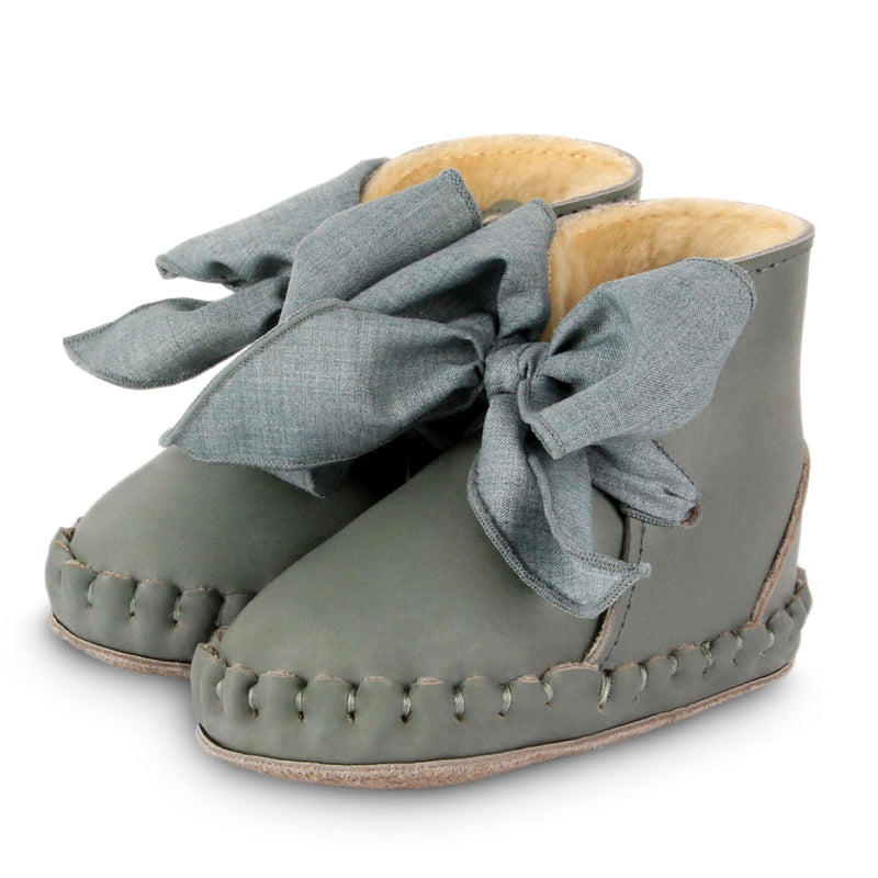 Pina Organza Lining Green Bay + Jade Cotton Booties