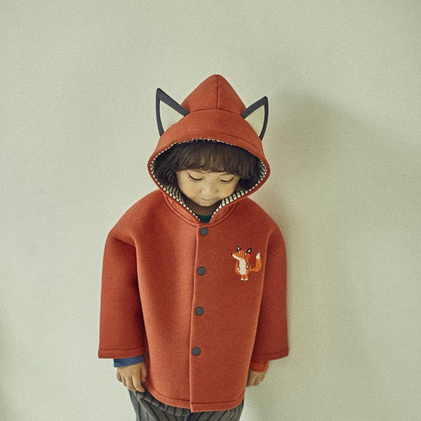 Embroidered Fox Ear Jacket