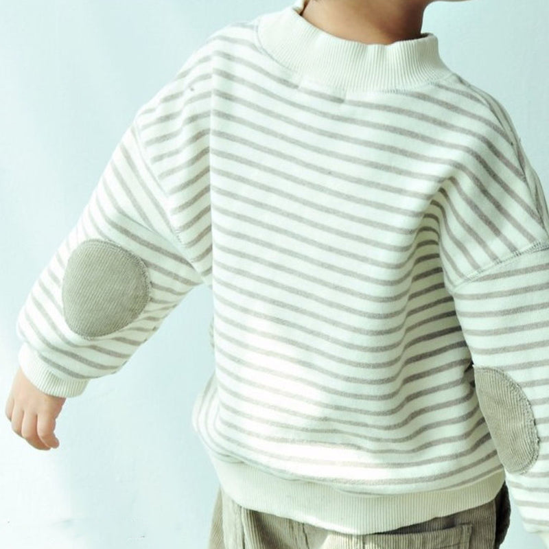 Theodore Stripe Patch Sweatshirt