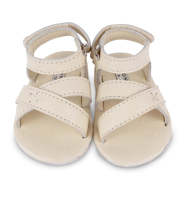 Giggles Off White Leather Sandals