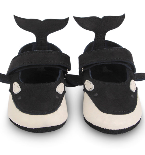 Donsje Amigu Black and White Orca baby toddler Shoes