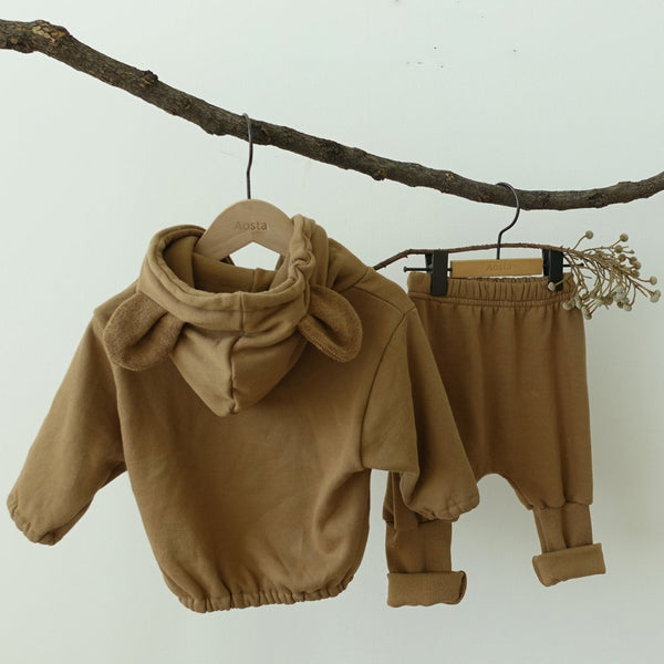 Bear Ears Hooded Sweatshirt (Toffee)
