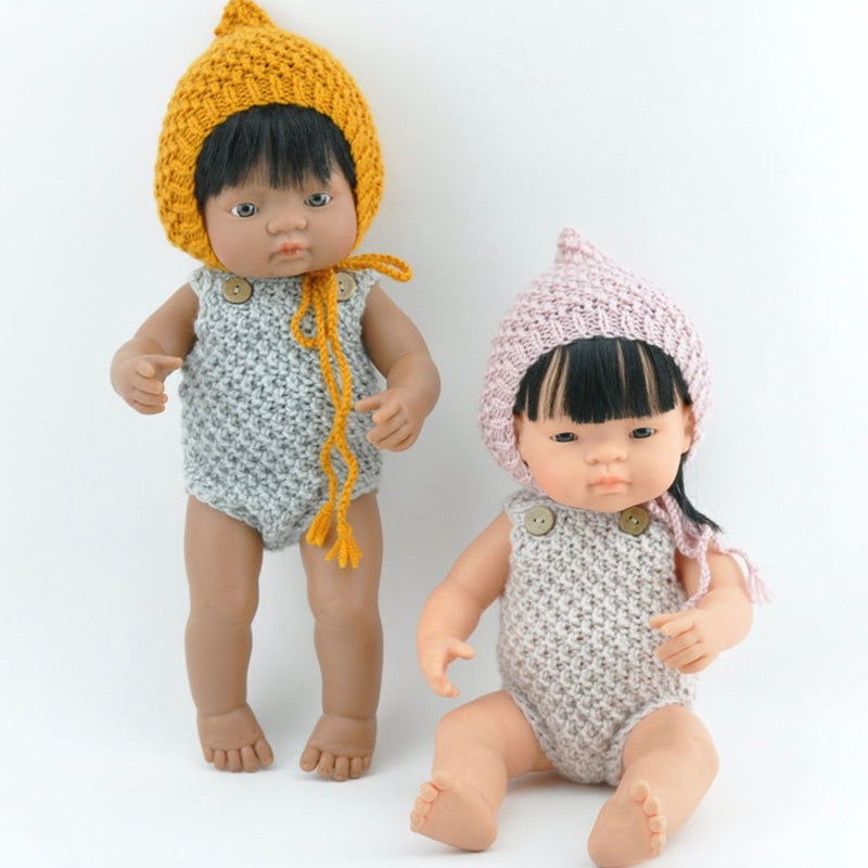 Knitted Romper for Baby Miniland Doll (38cm)