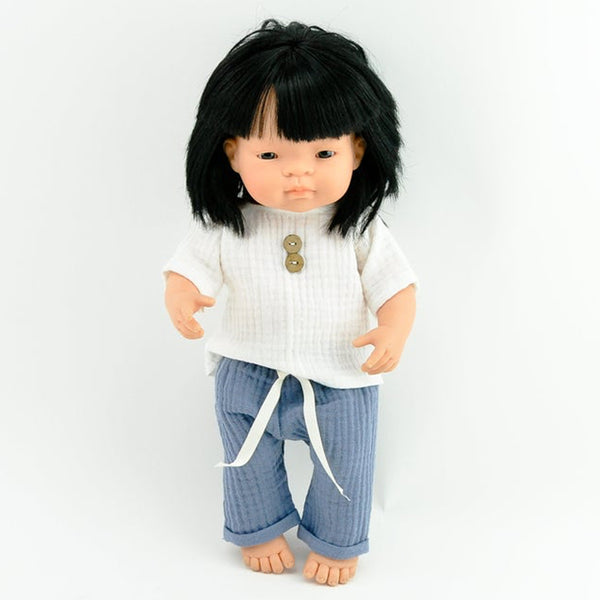 T Shirt & Trouser Set Miniland Doll Clothes (38cm)