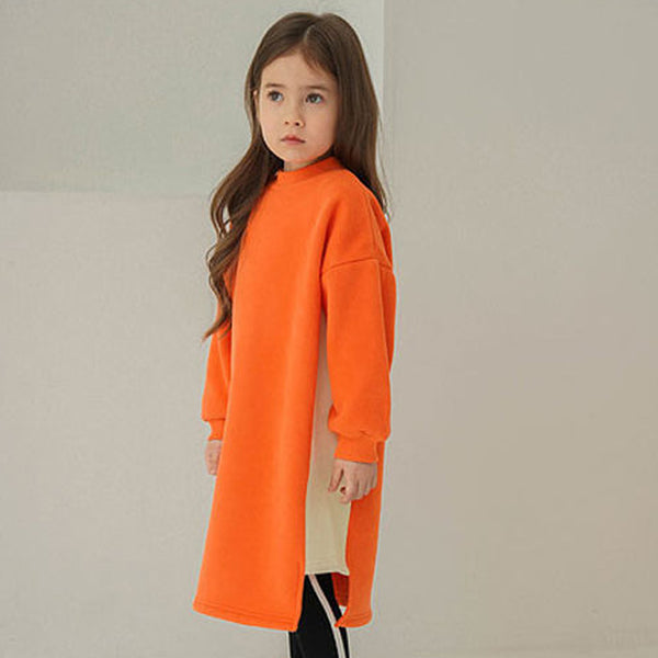 Vivie Sweatshirt Dress (Orange)