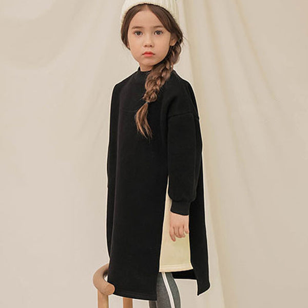 Vivie Sweatshirt Dress (Black)