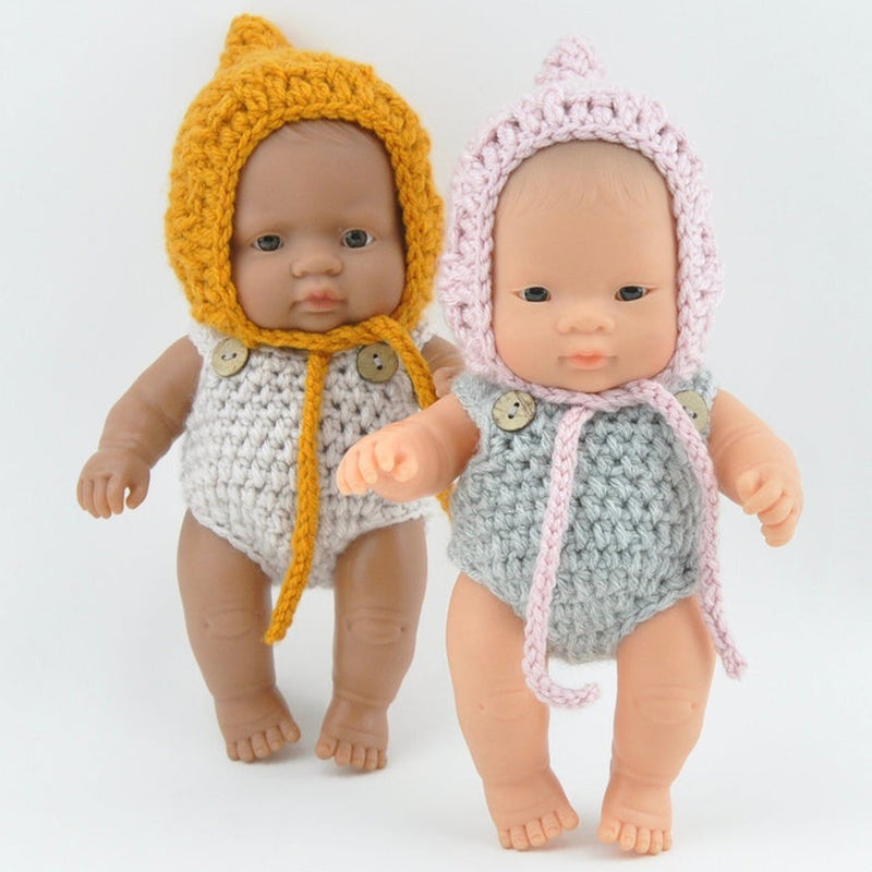 Knitted Romper for Baby Miniland Doll (21cm)