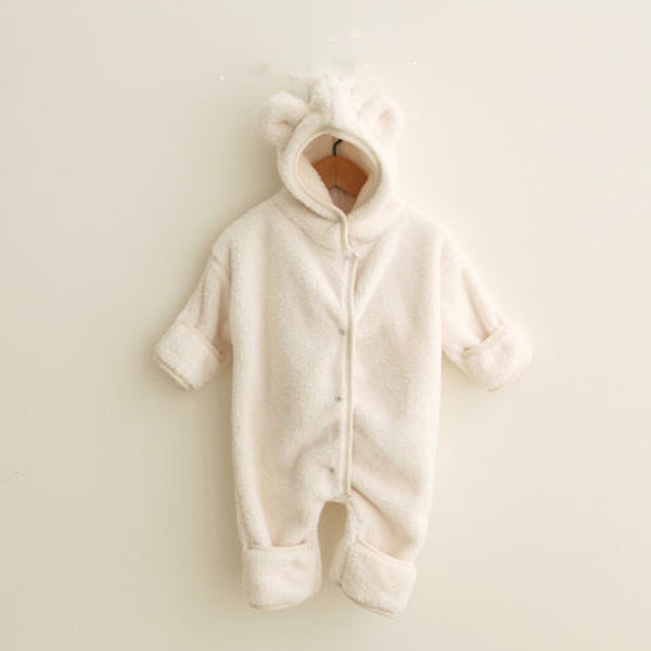 Cozy Fleece Bear Outer Suit (Ivory)
