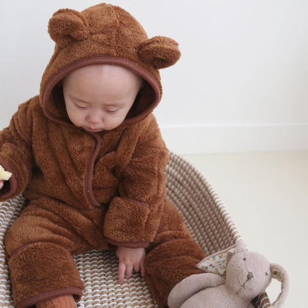 Cozy Fleece Bear Outer Suit (Cocoa)