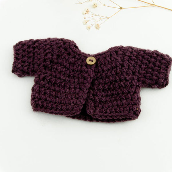 Hand Knitted Cardigan Jacket for Baby Miniland Doll (21cm)