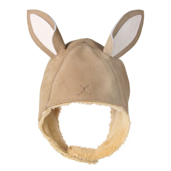 Kapi Leather Bunny Hat
