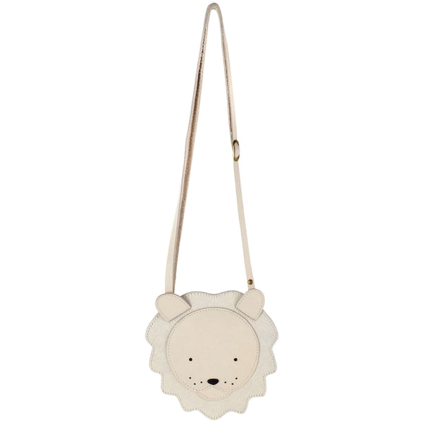 Britta Leather White Lion Bag Purse
